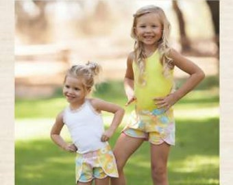 Coachella Shorts Sewing Pattern by Striped Swallow Designs Child's Sizing 6m-12 years