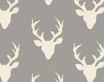 Hello Bear Buck Forest Mist Art Gallery Fabric