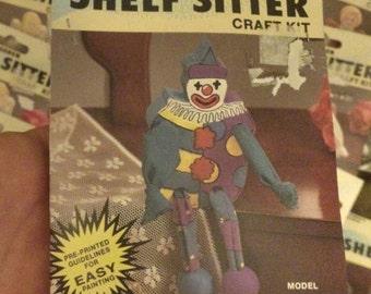 33 BNIP Vintage Wang's International, Inc Wooden Shelf Sitter Craft Kits Wooden Rare vintage wood toy hard to find