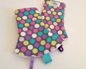 Drool Pad for SSC Carriers | Curved Drool Pads | Regular Drool Pads | Diddly Dot Orchid