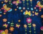 Butterfly Print Fabric By The Yard, Bird Print Fabric, Butterfly Garden Fabric, Upholstery Fabric, Hand Printed Fabric, Animal Print Fabric