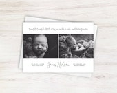 Twinkle Twinkle Little Star We Made a Wish and Here You Are Baby Boho Newborn Announcement