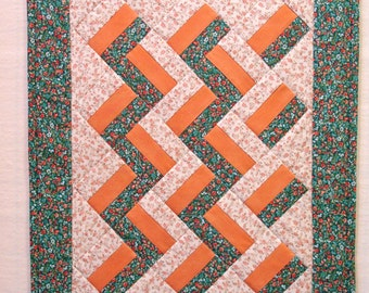 Rail Fence Doll Quilt