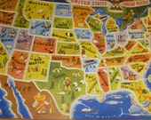 Cool Vintage United States Puzzle 48 State Puzzle A M Walzer Co Puzzle