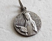 Vintage religious medal of Virgin Mary Apparition at Beauraing Belgium 1932-1933 . vintage silver medal . Catholic medal from France