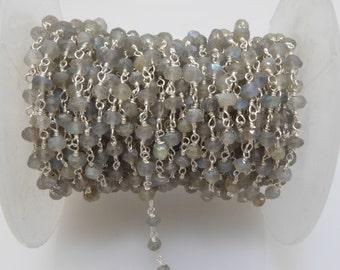 labradorite rosary chain