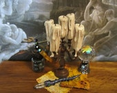 Aged Dripping Candle Candelabra dollhouse miniature, spooky, haunted, witch, Halloween, gothic in 1/12 scale