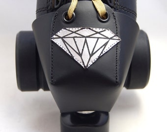 Leather Toe Guards with Diamonds
