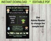 Editable Digital Star Wars Inspired Baby Shower Invitation INSTANT DOWNLOAD