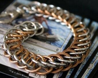 Chromed Chainmaille Bracelet