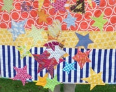 "Good Morning Starshine  42"" x 45.5"" Baby Quilt Girl Or Boy Designer Cottons betrueoriginals"
