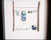 Laundry Day - Irish Sea Pottery and Sea Glass Artwork RESERVED FOR CSC