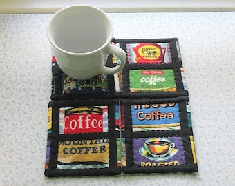 coffee tins set of mug rugs