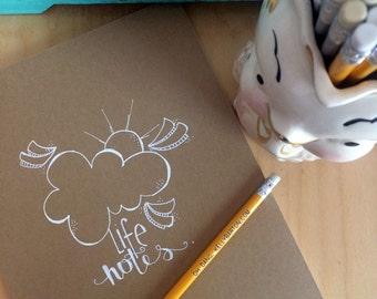 life notes.  a HUGE (kraft) hand illustrated journal