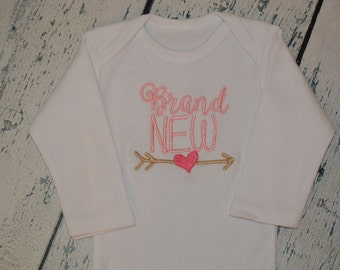 Personalized Brand New with Arrow Infant Gown or Bodysuit - you Create your set