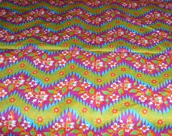 "Girl's World Vibe Floral Design by  Jennifer Paganelli 100% Cotton 44"" Wide 1 Yard  Long"
