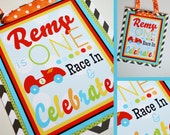 Race Car Birthday Party Door Sign Fully Assembled Decorations