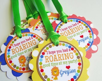 Jungle Birthday Party Favor Tags Fully Assembled Decorations