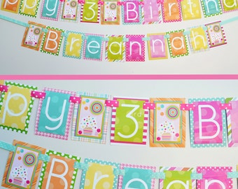 Sweet Shop Birthday Party Banner Decorations Fully Assembled