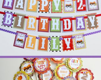 Girl Pumpkin Patch Birthday Party Decorations Fully Assembled