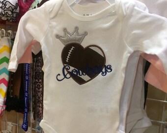Cowboys Football Princess Bodysuit
