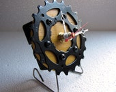 Recycled Bumble Bee Campagnolo Bicycle Cassette Ring Desk Clock