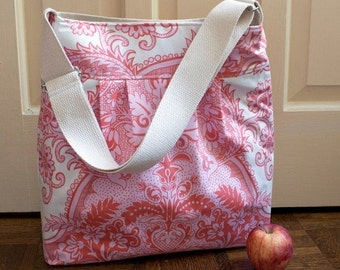 black friday 20% off // LAST ONE // amy butler diaper bag in sandlewood love canvas // floral girls diaper bag // the bravo bag // ready to