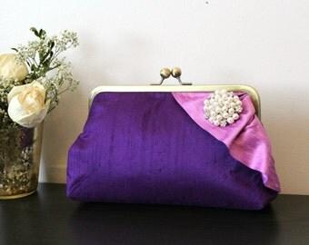 Bridal Clutch - Wedding Purse - Purple Bridal Clutch - Bridesmaids Clutch - Bridal Clutch - Purple Purse - Wedding Clutch - Giselle Clutch