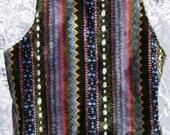 SOFT Sonny Cher Era Hippie Folk Rock BOHEMIAN Sweater Vest