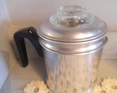 vintage one cup Aluminum coffee pot ~ Small Stovetop Percolator