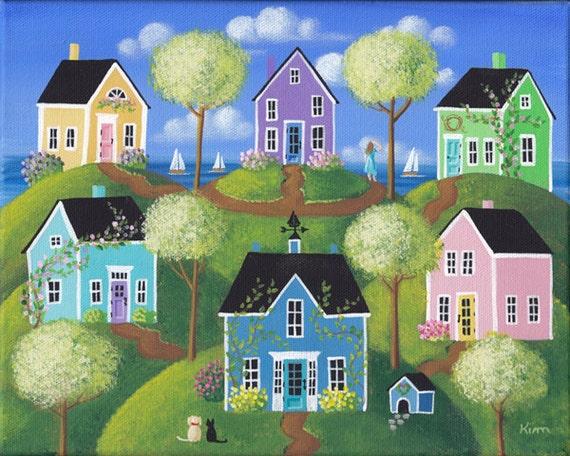 Summerview Hills Folk Art d'impression grand format 11 ? x 14 ? ou 12 ? x 16 ?