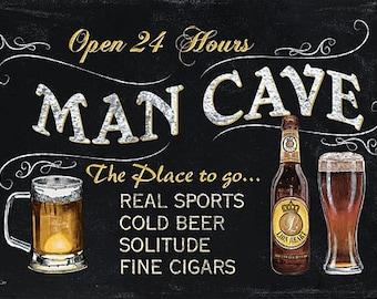 Man Cave Wall Decor,Wooden Art Plaque,18x12