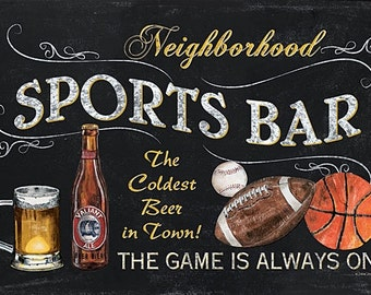 Man Cave, Wood Sign,Sports Bar DEW294