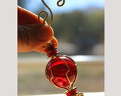 Ruby Red Ornament Recycled Glass