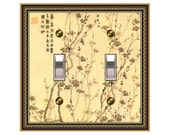 0527x  Asian Branches Design   Mrs Butler Switchplate  (Choose size/price from dropdown)light switchplates, switch plate covers