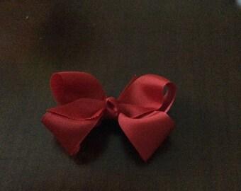 Toddler red grosgrain hairbow