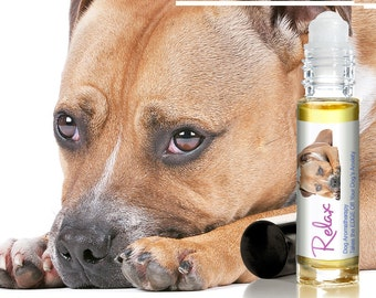 Pit Bull RELAX Dog Aromatherapy Roll-On All Natural Support for Anxiety, Stress, Fearfulness, Thunderstorm Stress in Your Dog