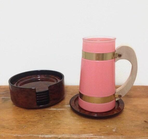 Vintage Japanese Lacquerware Coasters - Nancy Calhoun - NOS - Tortoise Shell Dark Brown