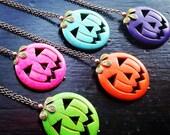 Pumpkin Heads Necklace