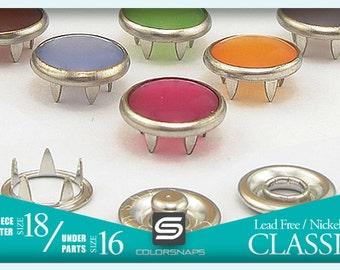 Size 16   15 Colors Decorative Pearl Snap Studs Popper