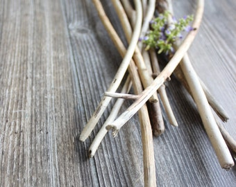 Eco Friendly Home Decor , Natural Skinny Driftwood Branches for Beach Decorating , Coastal Vase Filler EF10