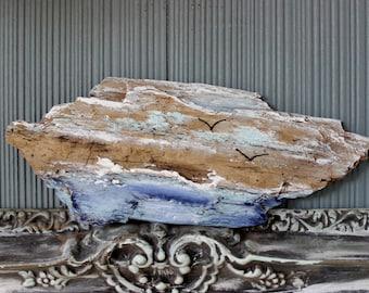 Driftwood Art for Coastal Spaces, Beach Theme Room Decor