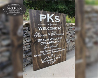 Carved lettering 30 x 40 inch wedding sign - The Howell (S-007-2) - reception decor
