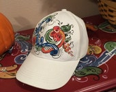 Rosemaled baseball cap