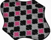 Liner Hemp Core- Joker Quinn Reusable Cloth Petite Pad- WindPro Fleece- 6.5 Inches
