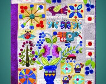 In Full Bloom, by Sue Spargo, Wool Applique Project Book