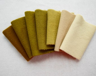 Gold - Yellow - Hand Dyed Felted Wool Fabric - Rug Hooking - Quilting - Sewing - Wool Applique by Quilting Acres