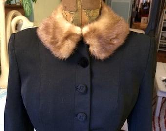Vintage Mink Mink Collar - dress up a cardigan or blazer!