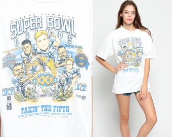 Dallas Cowboys Shirt Football Tshirt 1995 SUPER BOWL T Shirt Champions Tee 90s Sports Top Vintage Extra Large XL