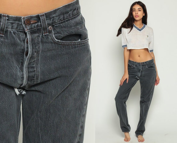 levis jeans mom jeans high waist jeans 501 80s faded black. Black Bedroom Furniture Sets. Home Design Ideas